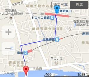 嵯峨嵐山駅から渡月橋