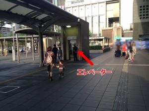 京都駅地下鉄乗り場エレベーター