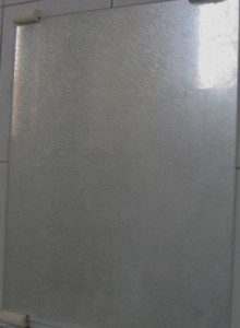 浴室の鏡の汚れ