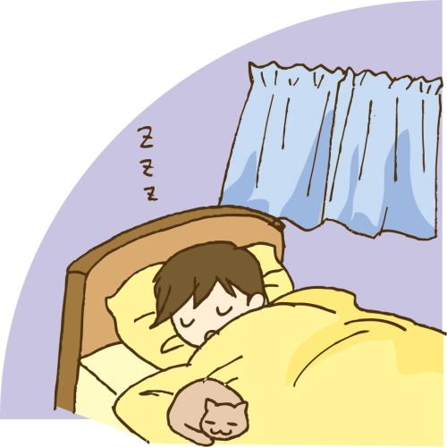 寝てる時口をモグモグ